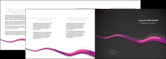 faire depliant 4 volets  8 pages  texture contexture structure MIF53874