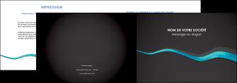 realiser depliant 2 volets  4 pages  texture contexture structure MLGI53900