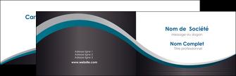 Commander Carte Pelliculage Mat Vernis sélectif brillant  Carte commerciale de fidélité papier publicitaire et imprimerie Carte de visite Double - Paysage