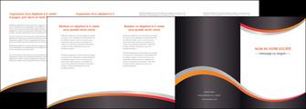 exemple depliant 4 volets  8 pages  texture contexture structure MLIG54582