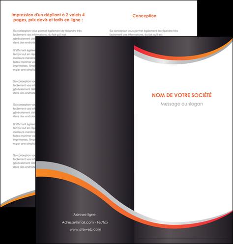 faire modele a imprimer depliant 2 volets  4 pages  texture contexture structure MLGI54596