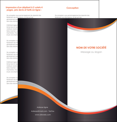 faire modele a imprimer depliant 2 volets  4 pages  texture contexture structure MLIG54596