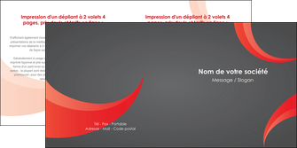 realiser depliant 2 volets  4 pages  texture contexture structure MLIG54760
