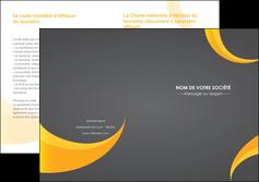 modele depliant 2 volets  4 pages  texture contexture structure MLIG54856