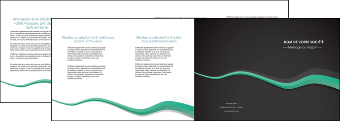 realiser depliant 4 volets  8 pages  texture contexture structure MLGI55204
