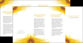 personnaliser maquette depliant 4 volets  8 pages  texture structure contexture MIF55322