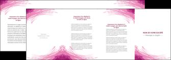 faire depliant 4 volets  8 pages  texture contexture structure MLIG55392