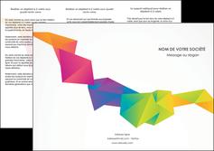 Impression dépliants fort grammage  papier à prix discount et format Dépliant 6 pages Pli roulé DL - Portrait (10x21cm lorsque fermé)