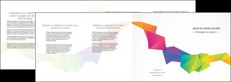 faire modele a imprimer depliant 4 volets  8 pages  texture contexture structure MIF55482