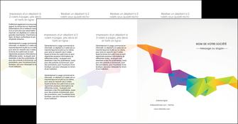 faire depliant 4 volets  8 pages  texture contexture structure MIF55486