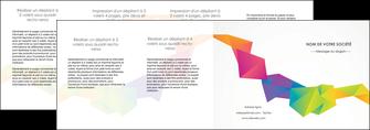 modele en ligne depliant 4 volets  8 pages  texture contexture structure MIF55488