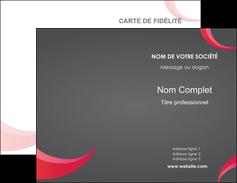 Impression carte de visite pro  Carte commerciale de fidélité devis d'imprimeur publicitaire professionnel Carte de visite Double - Portrait