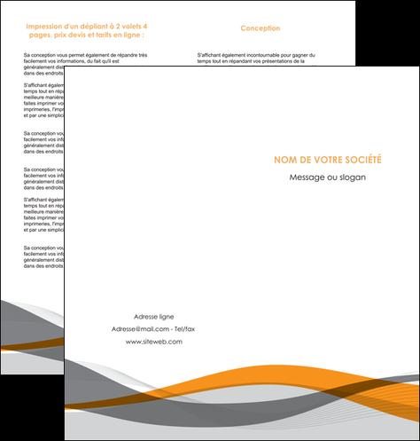 impression depliant 2 volets  4 pages  texture contexture structure MLGI55788