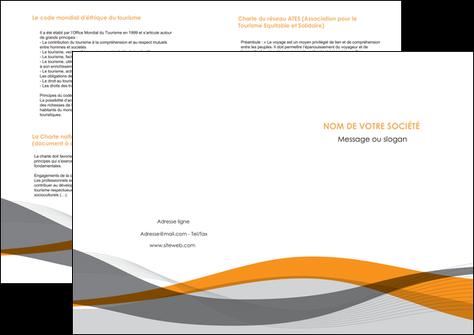 imprimerie depliant 2 volets  4 pages  texture contexture structure MLGI55800