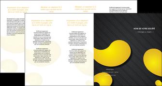 personnaliser modele de depliant 4 volets  8 pages  texture contexture structure MLIGBE56252