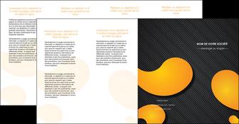 exemple depliant 4 volets  8 pages  texture contexture structure MLGI56470