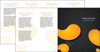 exemple depliant 4 volets  8 pages  texture contexture structure MIF56470