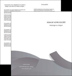 imprimerie depliant 2 volets  4 pages  texture contexture structure MIF56668
