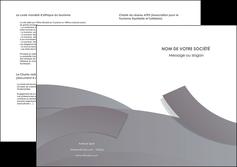 realiser depliant 2 volets  4 pages  texture contexture structure MIF56680
