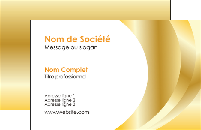 Modele En Ligne Carte De Visite Bijouterie Dore Brillant Classe MLGI56856