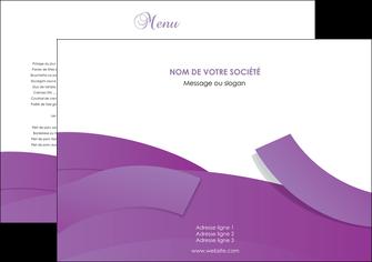 imprimerie set de table violet fond violet violet pastel MLGI56908