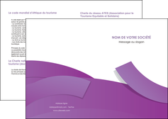 creer modele en ligne depliant 2 volets  4 pages  violet fond violet violet pastel MIF56914