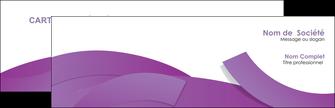impression carte de visite violet fond violet violet pastel MIF56916
