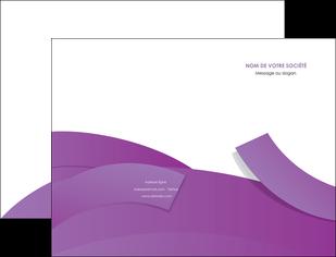 faire modele a imprimer pochette a rabat violet fond violet violet pastel MIF56920
