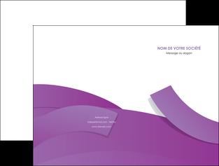 realiser pochette a rabat violet fond violet violet pastel MIF56922