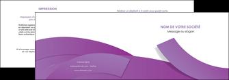 exemple depliant 2 volets  4 pages  violet fond violet violet pastel MLGI56924