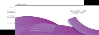 creation graphique en ligne depliant 2 volets  4 pages  violet fond violet violet pastel MIF56926