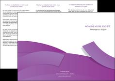 realiser depliant 3 volets  6 pages  violet fond violet violet pastel MIF56934