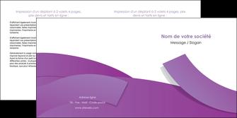 personnaliser maquette depliant 2 volets  4 pages  violet fond violet violet pastel MLGI56938