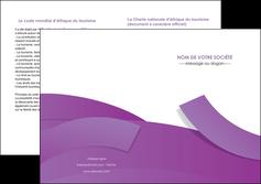 modele depliant 2 volets  4 pages  violet fond violet violet pastel MIF56948