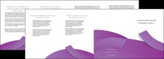 exemple depliant 4 volets  8 pages  violet fond violet violet pastel MIF56952