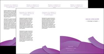 realiser depliant 4 volets  8 pages  violet fond violet violet pastel MIF56956