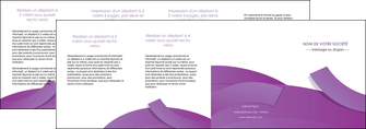 personnaliser modele de depliant 4 volets  8 pages  violet fond violet violet pastel MIF56958