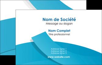 realiser carte de visite bleu bleu pastel fond bleu pastel MIF57188