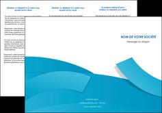 personnaliser maquette depliant 3 volets  6 pages  bleu bleu pastel fond bleu pastel MLIG57204