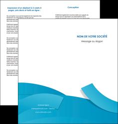 faire modele a imprimer depliant 2 volets  4 pages  bleu bleu pastel fond bleu pastel MIF57206