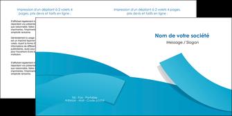 creation graphique en ligne depliant 2 volets  4 pages  bleu bleu pastel fond bleu pastel MIF57208