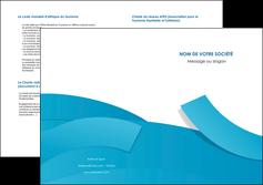 faire depliant 2 volets  4 pages  bleu bleu pastel fond bleu pastel MIF57218