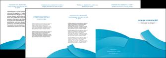 realiser depliant 4 volets  8 pages  bleu bleu pastel fond bleu pastel MIF57220