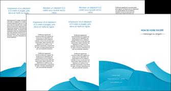 faire modele a imprimer depliant 4 volets  8 pages  bleu bleu pastel fond bleu pastel MIF57224