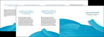 imprimerie depliant 4 volets  8 pages  bleu bleu pastel fond bleu pastel MIF57226