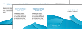 imprimerie depliant 4 volets  8 pages  bleu bleu pastel fond bleu pastel MLIG57226