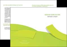 faire depliant 2 volets  4 pages  espaces verts vert vert pastel colore MLGI57236