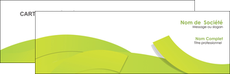realiser carte de visite espaces verts vert vert pastel colore MIF57238