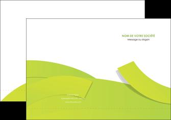 personnaliser maquette pochette a rabat espaces verts vert vert pastel colore MLGI57244