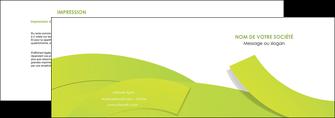 modele depliant 2 volets  4 pages  espaces verts vert vert pastel colore MLIG57246